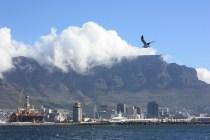 Table Mountain, derrière les gratte-ciels du Cap / Table Mountain, behind the skyscrapers of Cape Town