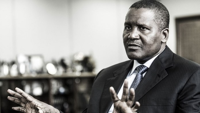 Aliko Dangote : 12,1 milliards de dollars, Nigérian