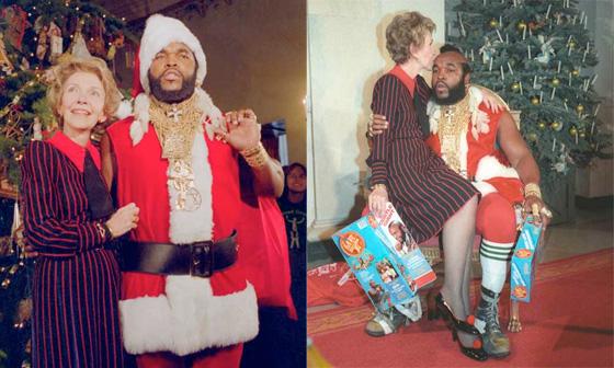 le Père Noël à la Maison Blanche Mister T.