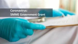 Coronavirus SMME Government Grant Application