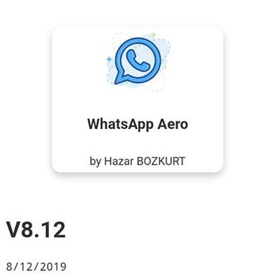Download Whatsapp Aero v8.12