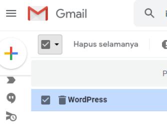cara menghapus email permanen selamanya