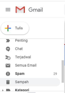 menghapus email secara permanen