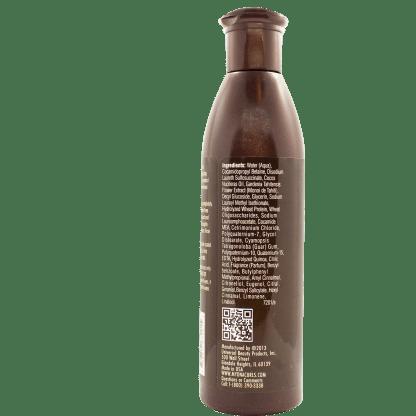 Rückseite der Flasche von MY DNA Sulfate Free Shampoo
