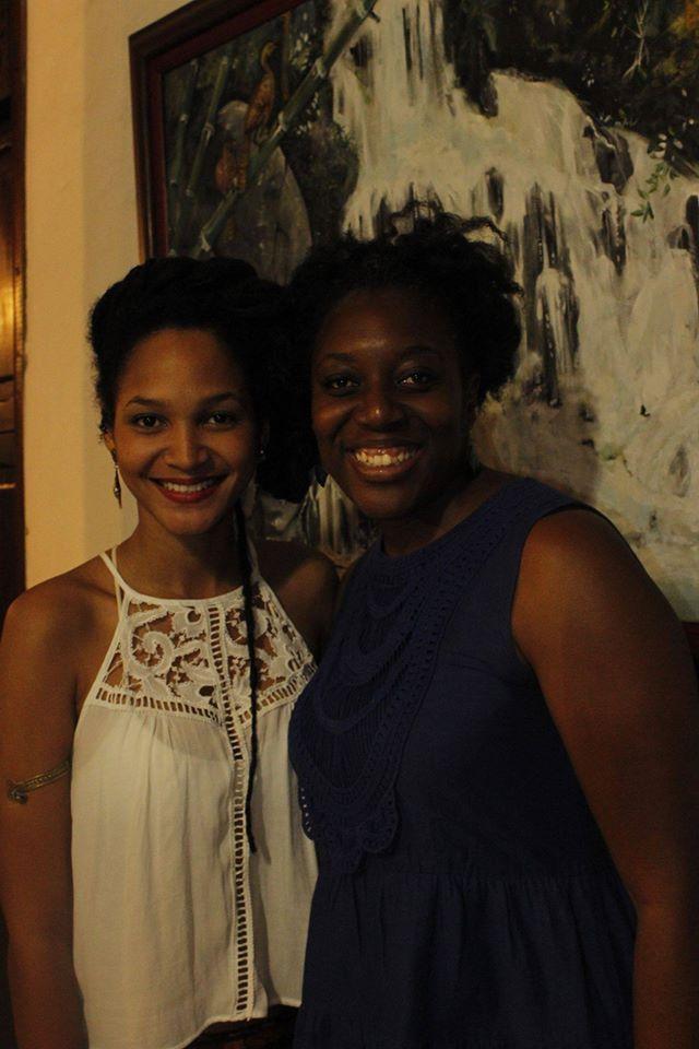 Mili Pardo de Afroféminas Colombia y Negra Flor en Tejiendo Esperanzas