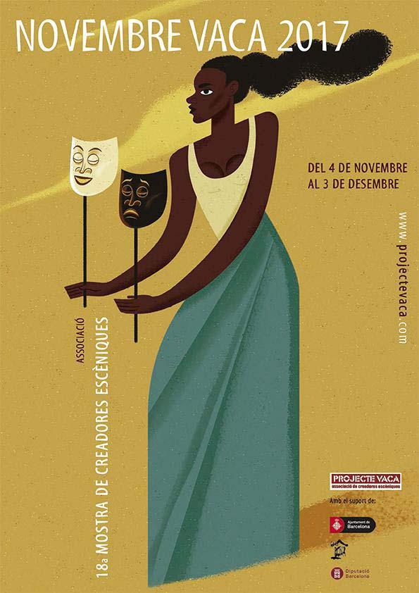 La mujer negra protagoniza la muestra de teatro Novembre Vaca 2017 en Barcelona