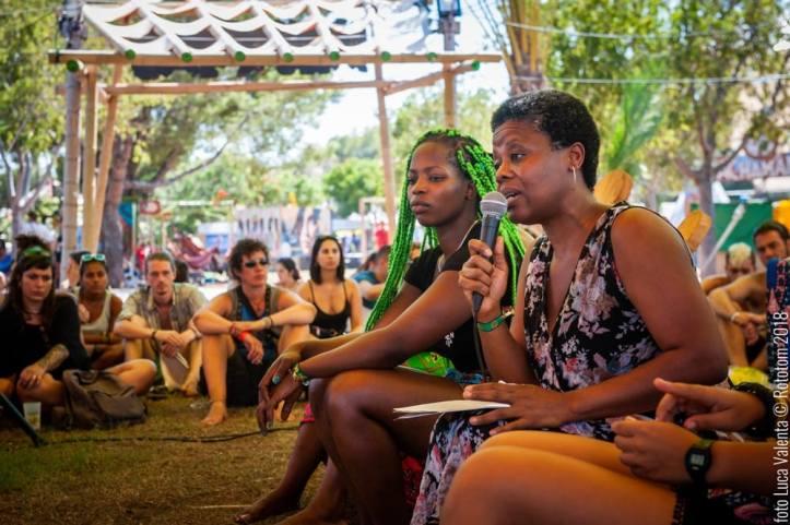 Ángela Nazambi en el Festival Rototom