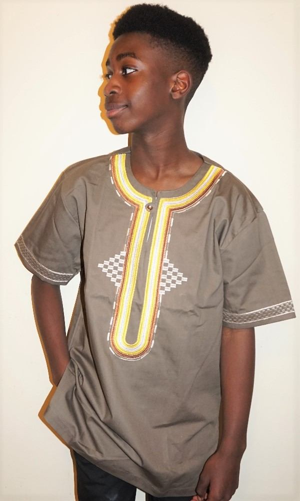 Embroidered African shirt