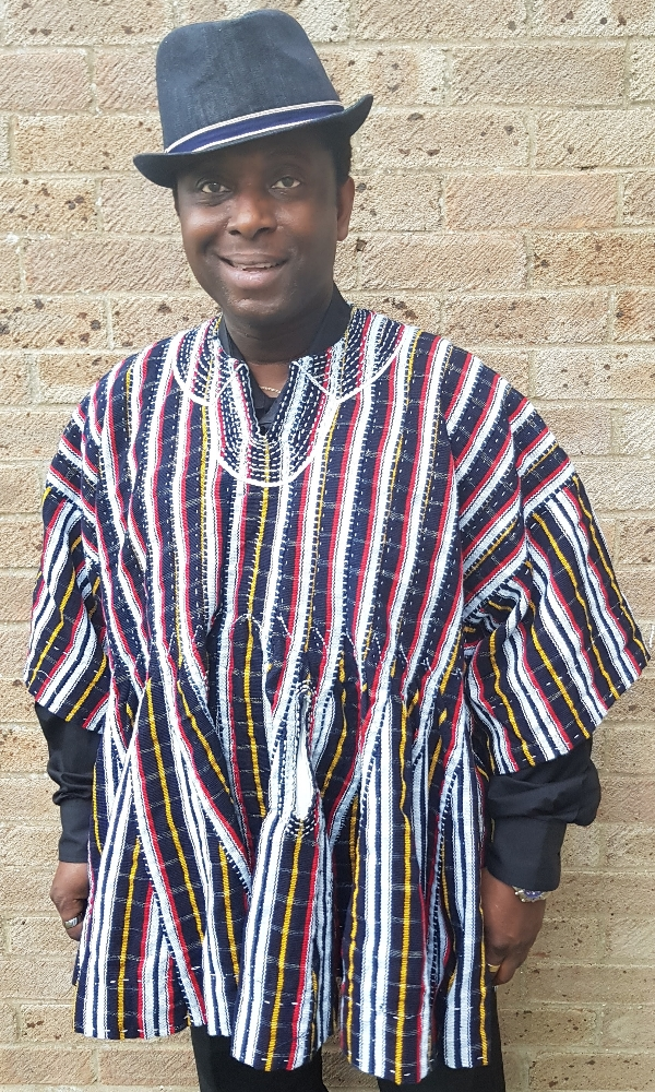 Men's authentic Ghanaian handmade smock batakari top