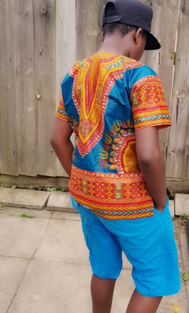 Kids unisex dashiki shirt
