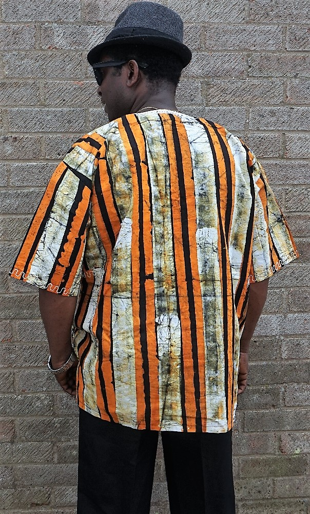 African style batik shirt with embroidery