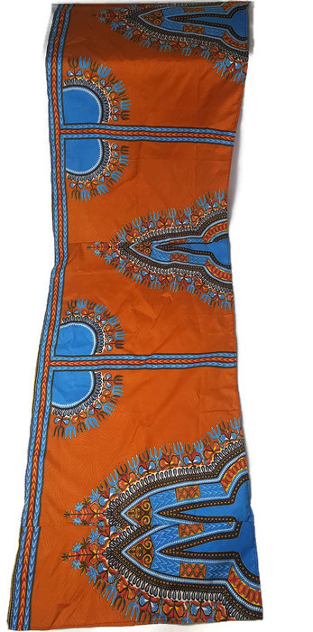 Orange dashiki headwrap