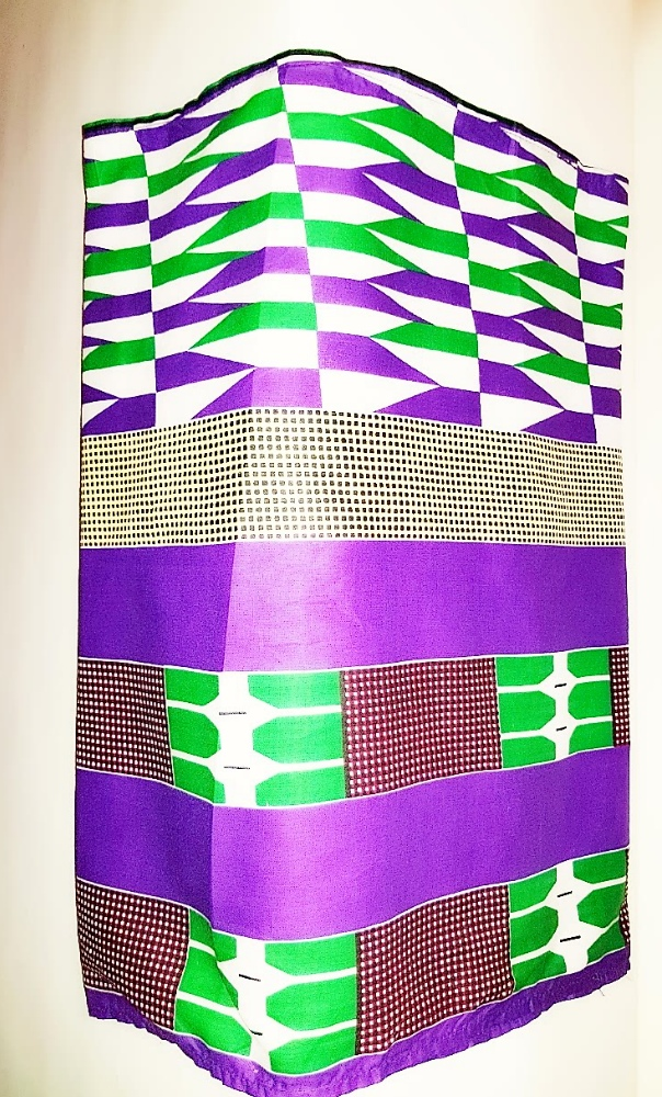 Purple kente headwrap