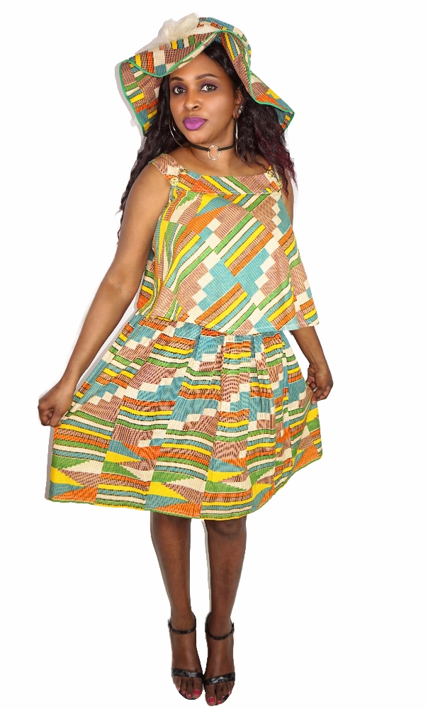 kente skirt set