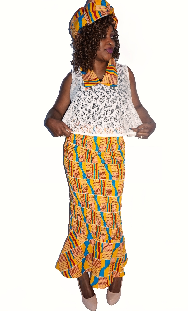 kente lace and skirt