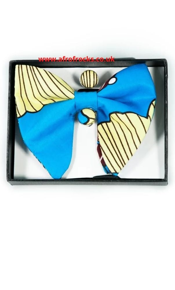 African print bowtie, cufflinks and pocket square set