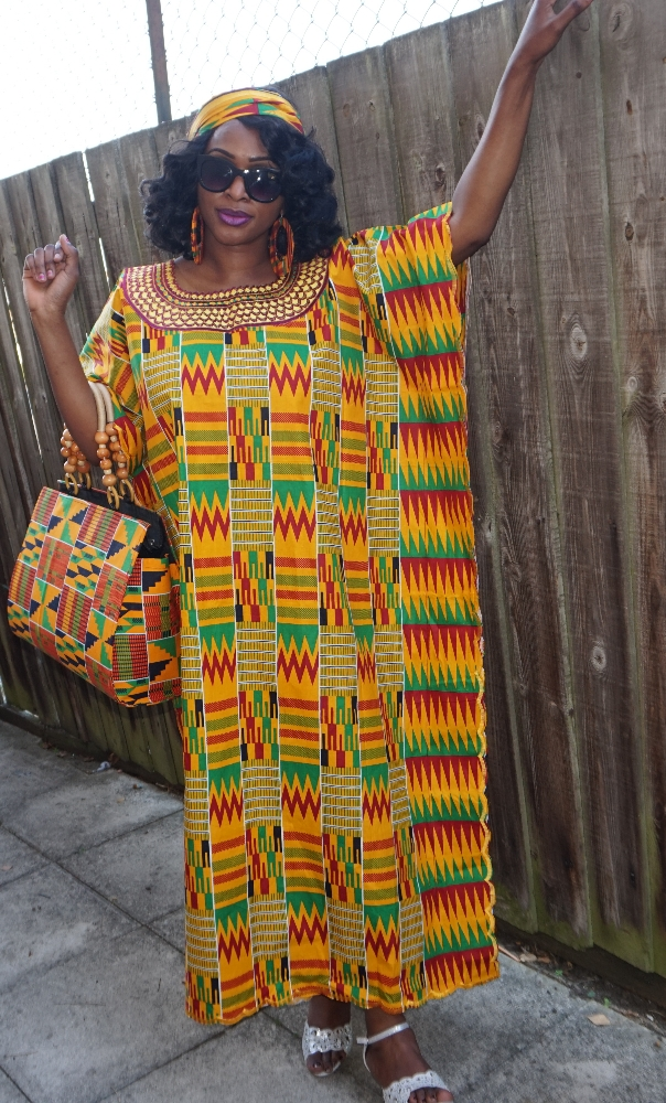 Embroidered Kente Boubou