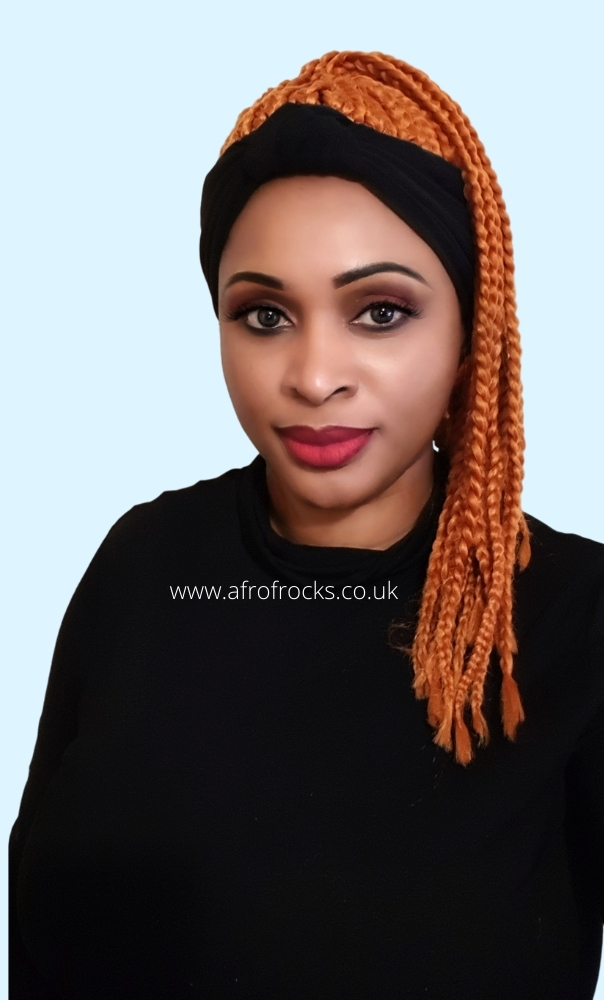 orange braided wig