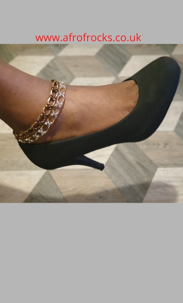 Criss-cross double track beaded anklet