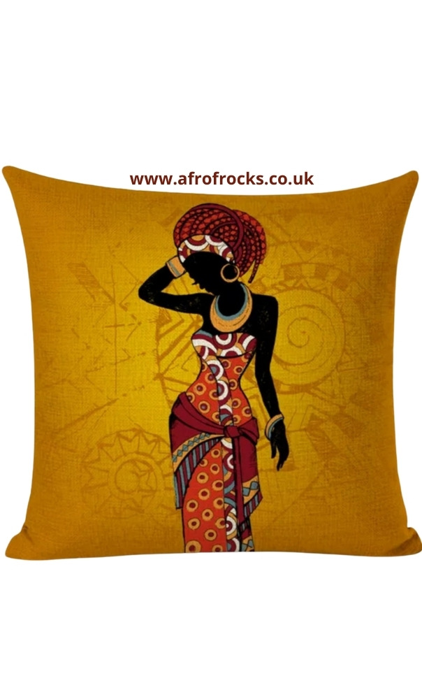 African Woman Ethnic Decorative Sofa pillows