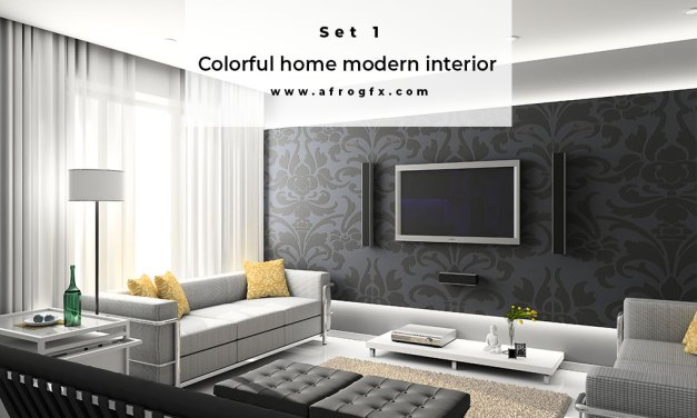 Colorful home modern interior Set 1