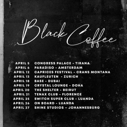 Black Coffee Upcoming Events