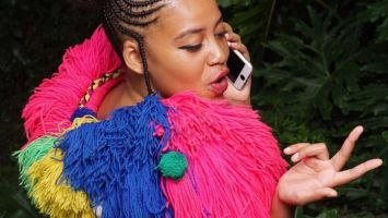 shomadjozi Sho Madjozi shares pics of herself with Cardi B at the BET Awards