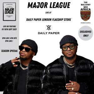 Major League Djz - Amapiano Balcony Mix Africa Live At Daily Paper Flagship Store in London