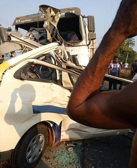 5 children, nine others killed as truck rams into passenger bus in Kogi