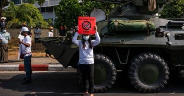 """Myanmar Military Warns """"Protesters Face up To 20 Years in Prison If They Obstruct Armed Forces"""""""