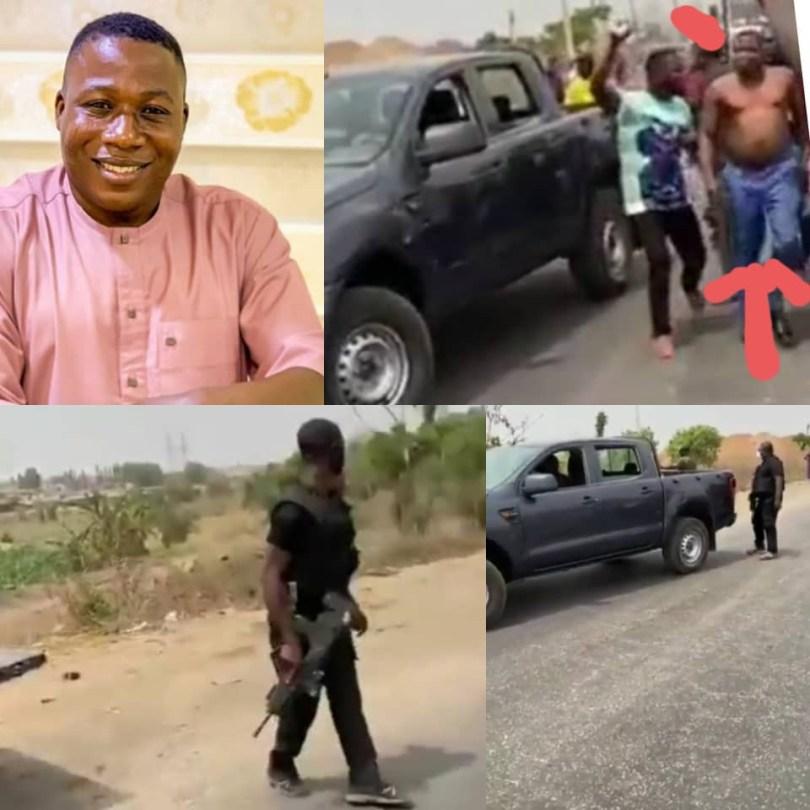 See Video of Yoruba activist, Sunday Igboho's Arrest Attempt