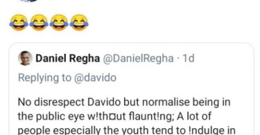 See Davido's Reaction After Man Tells Him To Stop Flaunting His Wealth On Social Media