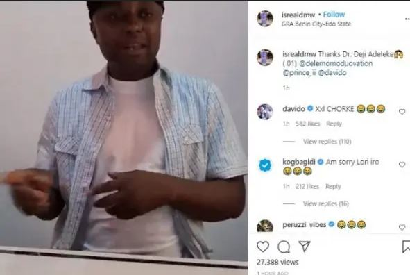 See Davido and Zlatan's Reaction After Israel Dmw Apologized To Cuppy