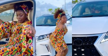 Actress Amarachi Amusi Shows Off Her Newly Purchased Car