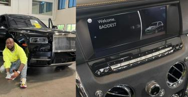 Davido Purchases Brand New 2021 Rolls Royce Cullinan