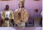 Nigerians React As Video of Prophet Odumeje Lifting an Ostensorium of The Blessed Sacrament Emerges Online