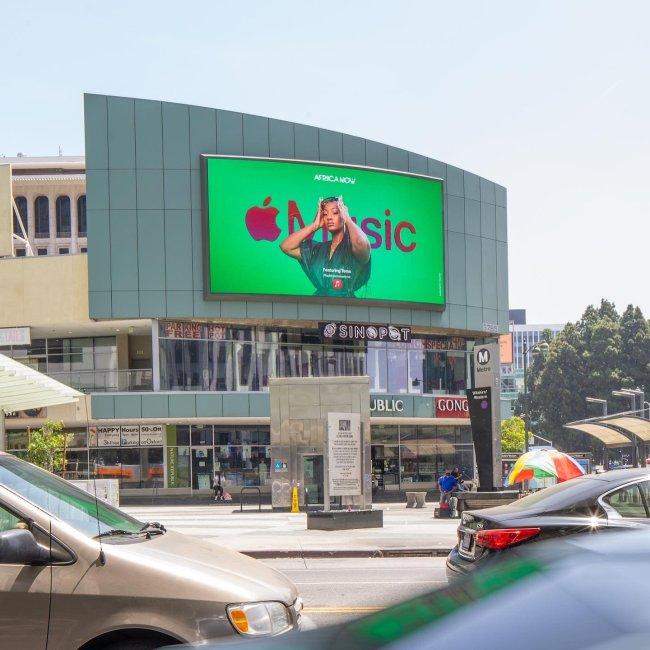 Nigerian Singer Tems Appears On Billboards Across New York, Los Angeles, Atlanta And Miami
