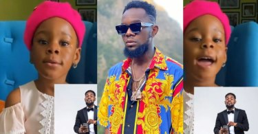 Patoranking's Daughter, Wilmer, Sings Him A Birthday Song As He Celebrates His Birthday