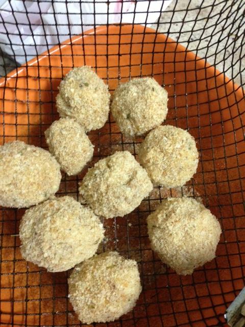 Yam balls before frying