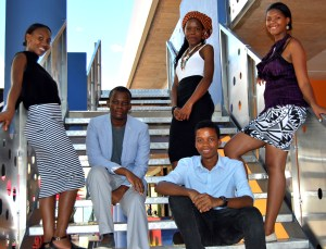 The Team (from left) Carol, Kago, Tshepo (standing) Lekgotla (seated) and Lucy