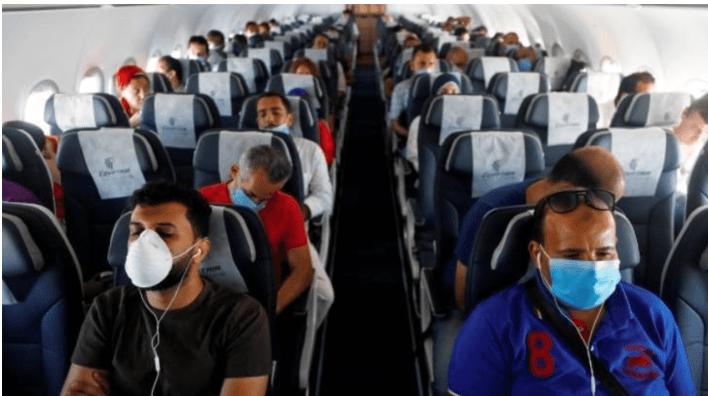 Researchers show how coronavirus spreads on planes