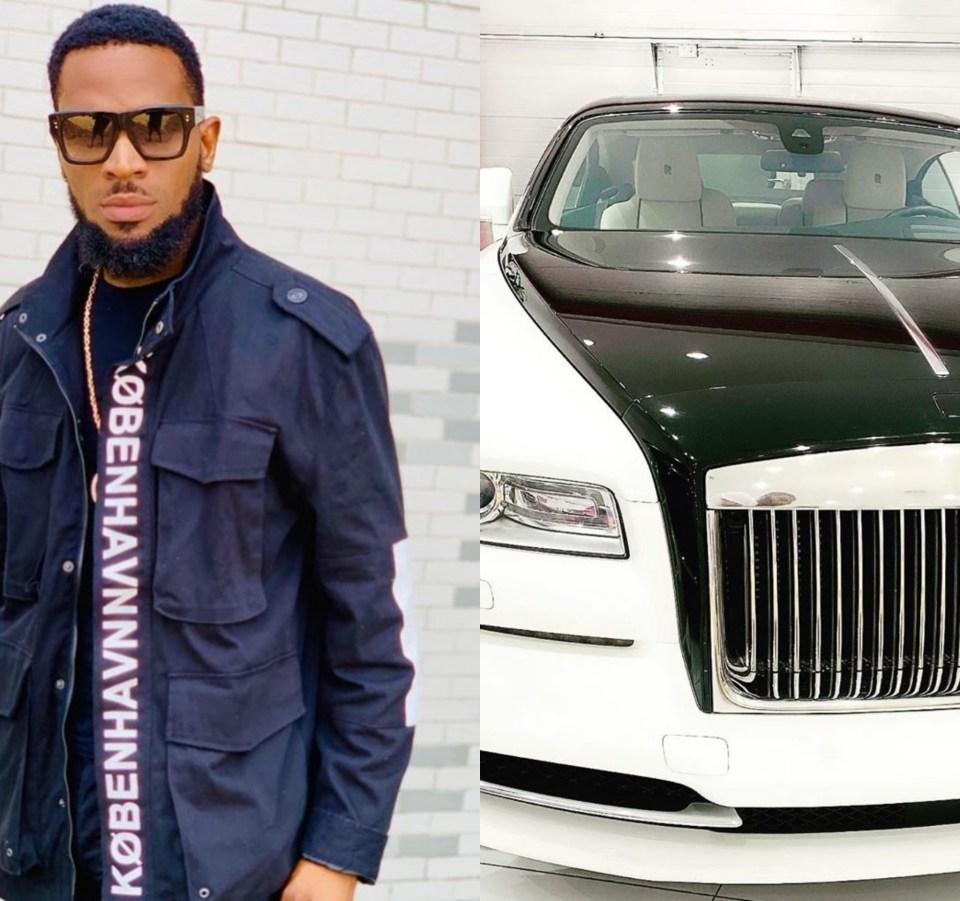Dbanj se prends une Rolls Royce pour son anniversaire