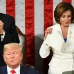 Etats-Unis la chef démocrate Nancy Pelosi déchire le discours de Donald Trump