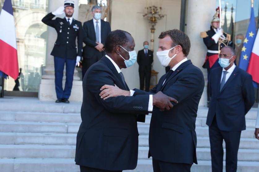 Côte d'Ivoire - Emmanuel Macron félicite le Président Ouattara pour sa réélection