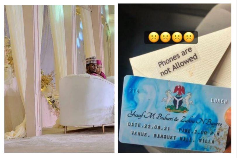 """""""Les téléphones ne sont pas autorisés"""" au déjeuner de mariage du fils du président Buhari dans la villa présidentielle"""