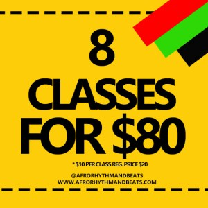 8 dance classes package