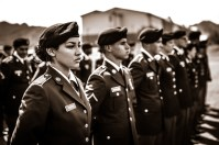 Private Rivera, U.S. Army, standing in formation.