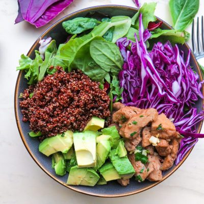 Meatless Chicken Quinoa Salad bowl