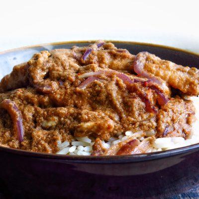 Spicy Djangsang ( Jansa) Sauce w/ rice
