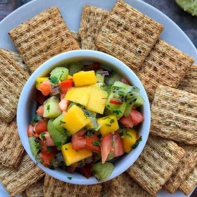 Easy Mango Kiwi Salsa